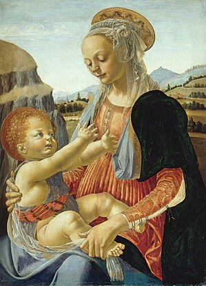 Andrea del Verrocchio - Madonna with seated Child (Gemäldegalerie, Berlin)