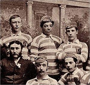 Andrew Watson (footballer, born 1856) - Watson (top centre, 1882 photograph)