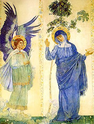 Mikhail Nesterov - The Annunciation, Marfo-Mariinsky Convent.