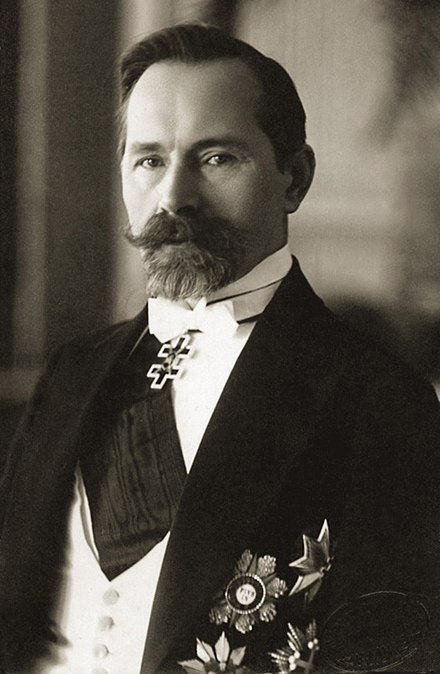 "Antanas Smetona, the first and last president of independent Lithuania during the interbellum years. The 1918-1939 period is often known as ""Smetona's time"". Antanas Smetona 2.jpg"