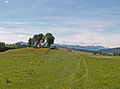 Antdorf - Kirnbergkapelle v N, Alpenpanorama.JPG
