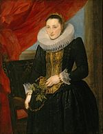 Anthony van Dyck - Portrait of a Lady, oil on canvs painting , c. 1618-21, El Paso Museum of Art.jpg