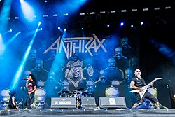Skupina Anthrax na festivale Wacken Open Air v roku 2019