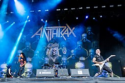Anthrax performing onstage