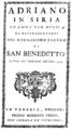 Antonio Sacchini - Adriano in Siria - titlepage of the libretto - Venice 1771.png