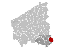 Vị trí của Anzegem in West-Flanders
