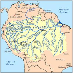 אגן הניקוז של נהר האפורימק, במערכת הניקוז הכללית של האמזונאס