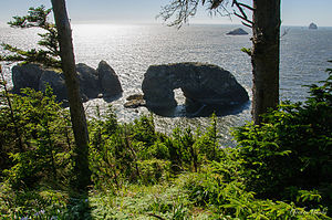 National Register of Historic Places listings in Curry County, Oregon - Image: Arch Rock