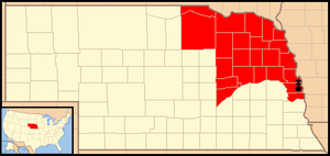 Roman Catholic Archdiocese of Omaha - Image: Archdiocese of Omaha map 1