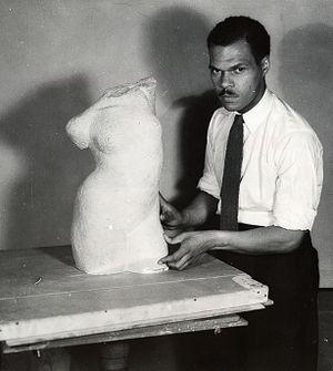 Harlem Community Art Center - Henry Bannarn, an instructor at the Harlem Community Art Center (1937)