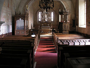 Ardre Church - Interior view towards the choir