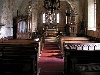Ardre Church - Interior view towards the choir