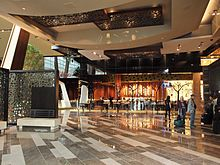 Aria Lobby With The Julian Serrano Restaurant In Background