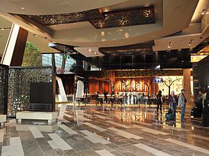Aria Resort and Casino - Aria lobby, with the Julian Serrano restaurant in background