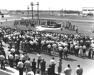 Marshall Space Flight Center - Ceremony of transfer from Army to NASA July 1, 1960