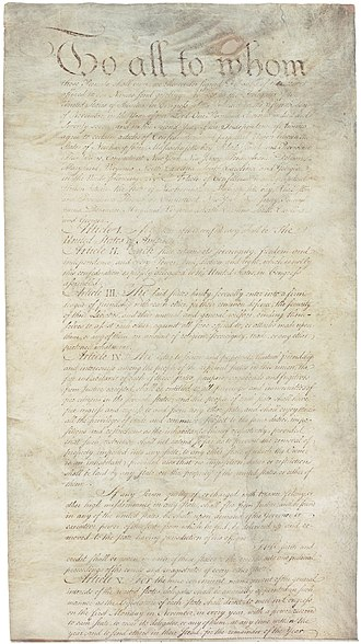 Articles of Confederation - Image: Articles of Confederation 1 5