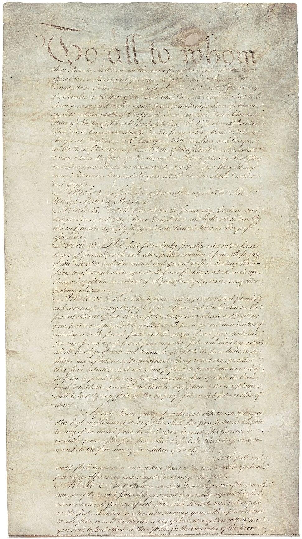 Articles of Confederation 1-5