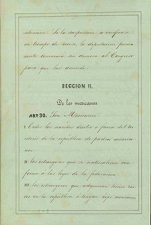 Articulo 30 Constitucion de 1857