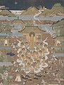 Artist Unknown, Japan - Taima Temple Mandala- Amida Welcomes Chûjôhime to the Western Paradise - Google Art Project.jpg
