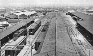 Tokyo Skytree Station - Overview of the original Asakusa Station terminus in 1927