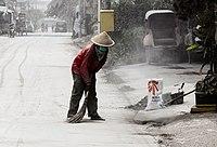 Ash in Yogyakarta during the 2014 eruption of Kelud 01.jpg
