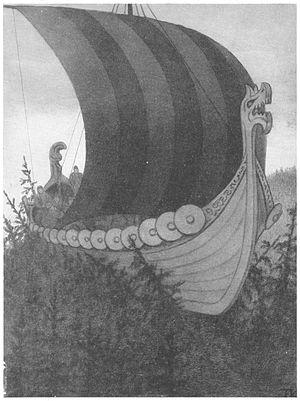 Askeladden - Askeladden og de gode hjelperne by Theodor Kittelsen.  illustration from Samlede eventyr. Norske kunstneres billedutgave by Asbjørnsen and Moe