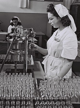 Teva Pharmaceutical Industries - Worker at Assia plant in the 1930s