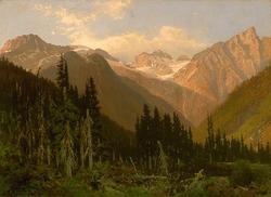 Ĉe la Rogers Pass, pentraĵo de John A. Fraser.png