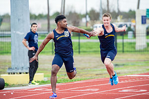 Texas A&M–Commerce Lions - The TAMUC men's track team at the Tarleton Dual Meet in 2015