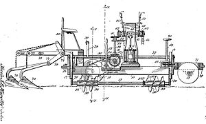 Screw-propelled vehicle - Jacob Morath's design for an auger driven agricultural machine, 1899.