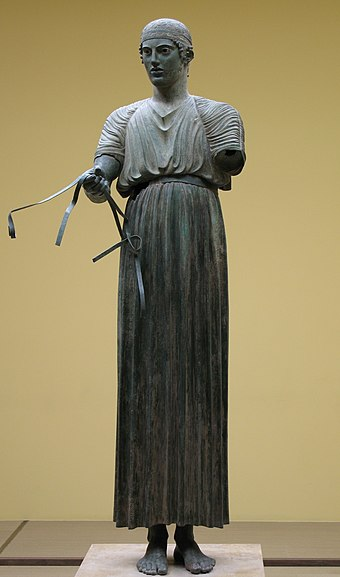 The Charioteer of Delphi, 478 or 474 BC, Delphi Museum. AurigaDelfi.jpg