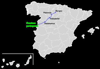 Autovía A-62 road in Spain