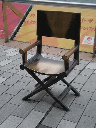 Director's chair - Statue of a director′s chair in Hong Kong.