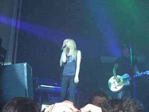 Avril Lavigne in a concert Europe