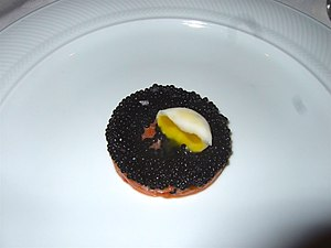 Herring as food - Image: Avruga caviar