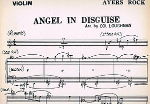 "Ayers Rock (band) - Manuscript of the violin part of ""Angel in Disguise"" from Beyond"