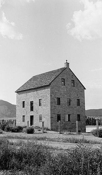Cimarron Historic District - Aztec Mill (Old Mill Museum), 1936