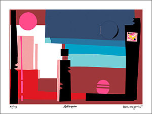 Brian Aldiss - 'Metropolis' limited edition print by Brian Aldiss