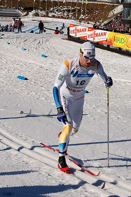 Competition skiing drug test