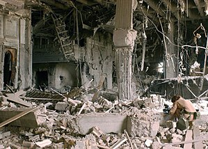 Aestheticization of violence - The bombed-out remains of the Baath Party Headquarters in Baghdad.