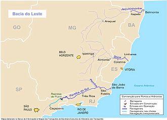 Paraíba do Sul - Image: Bacia leste