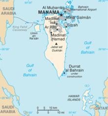 Bahrain Wikipedia - Bahrain map