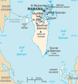 Bahrain map - 2
