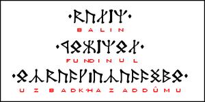 Cirth - Image: Balin zg 2