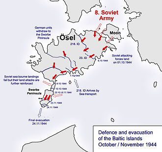 218th Infantry Division (Wehrmacht) - Soviet assault on Baltic Island of Saaremaa (Ösel) in October / November 1944