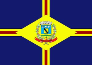 Três Corações - Image: Bandeira de Tres Coracoes