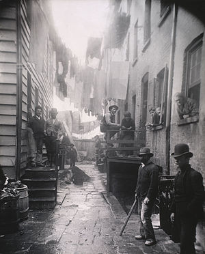Mulberry St by Jacob Riis