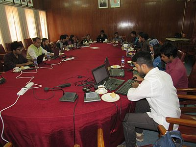 Bangla Wikipedia Edit-a-thon at Bangladesh National Museum (02).jpg