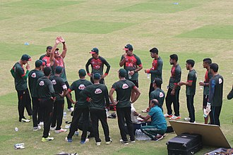 Bangladesh national cricket team - Bangladesh team on practice session at Sher-e-Bangla National Cricket Stadium