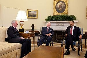 President Barack Obama meets with Senator Kenn...